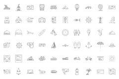 Iconos del recorrido fijados libre illustration