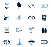 Iconos del recorrido fijados Fotos de archivo