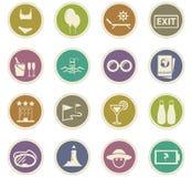 Iconos del recorrido fijados Fotografía de archivo libre de regalías