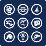Iconos del recorrido y de las vacaciones (fije 13, parte 1) Imagen de archivo