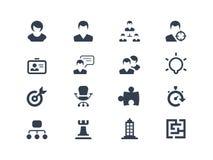 Iconos del recurso humano Imágenes de archivo libres de regalías