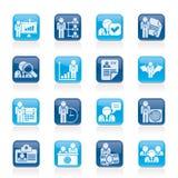Iconos del recurso humano y del empleo ilustración del vector