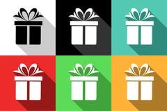 Iconos del regalo Fotografía de archivo libre de regalías