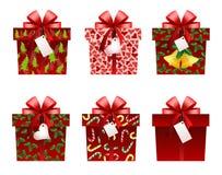 Iconos del regalo de la Navidad Fotografía de archivo libre de regalías