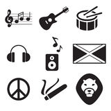 Iconos del reggae libre illustration