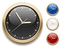 Iconos del reloj stock de ilustración