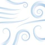 Iconos del remolino del viento Imagen de archivo libre de regalías