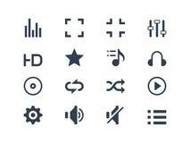 Iconos del reproductor multimedia Foto de archivo