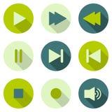 Iconos del reproductor multimedia Fotografía de archivo libre de regalías