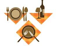 Iconos del restaurante Imágenes de archivo libres de regalías