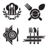 Iconos del restaurante Imagenes de archivo