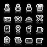 Iconos del restaurante ilustración del vector