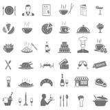 Iconos del restaurante fijados imagen de archivo libre de regalías