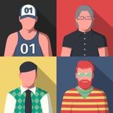 Iconos del retrato de Avatar Imagenes de archivo