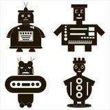 Iconos del robot fijados Fotos de archivo libres de regalías