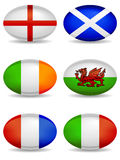 Iconos del rugbi de las naciones de RBS 6 libre illustration