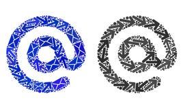 Iconos del símbolo del correo electrónico del mosaico de los caminos del correo libre illustration