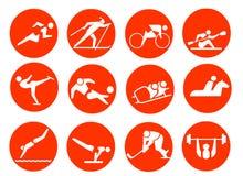 Iconos del símbolo del deporte Imagen de archivo