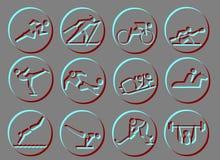 Iconos del símbolo del deporte Fotos de archivo
