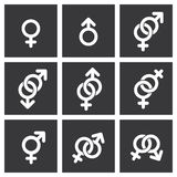 Iconos del símbolo del género Stock de ilustración