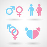 Iconos del símbolo del género libre illustration