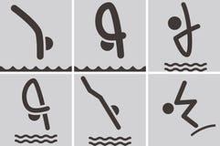 Iconos del salto Imagen de archivo