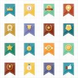 Iconos del sello y de la cinta de la insignia Imagen de archivo libre de regalías