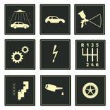 Iconos del serice del coche fijados Fotografía de archivo libre de regalías