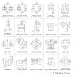 Iconos del servicio bancario
