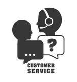 Iconos del servicio de atención al cliente Imagen de archivo libre de regalías
