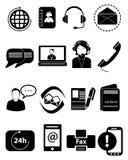 Iconos del servicio de atención al cliente fijados Foto de archivo libre de regalías