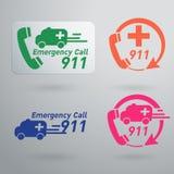 Iconos del servicio de emergencia del vector Fotos de archivo libres de regalías