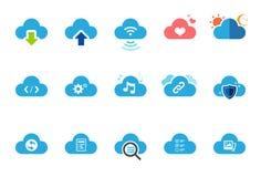 Iconos del servicio de la nube - el ejemplo fijó 1 libre illustration