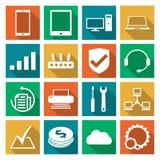 Iconos del servicio de reparación del ordenador fijados Imágenes de archivo libres de regalías