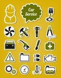 Iconos del servicio del coche Fotos de archivo