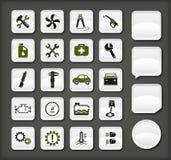 Iconos del servicio del coche Imagen de archivo libre de regalías