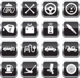 Iconos del servicio del coche Imagenes de archivo