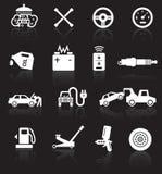 Iconos del servicio del coche Imagen de archivo