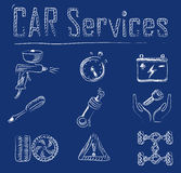 Iconos del servicio del coche Libre Illustration