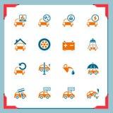 Iconos del servicio del coche | En una serie del marco Fotos de archivo