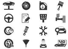 Iconos del servicio del coche fijados Fotografía de archivo libre de regalías