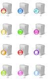 Iconos del servidor Foto de archivo libre de regalías