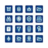 Iconos del servidor de archivos Ilustración del Vector