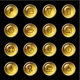 Iconos del servidor de la gota del oro Imagenes de archivo