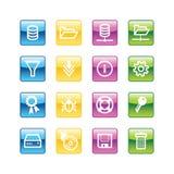 Iconos del servidor del Aqua Ilustración del Vector