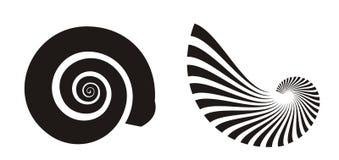 Iconos del shell del mar Fotos de archivo libres de regalías