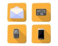 Iconos del sistema de comunicación fotografía de archivo
