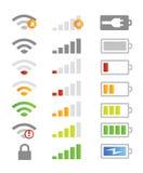 Iconos del sistema de teléfono móvil Imagen de archivo