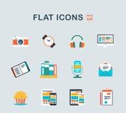 Iconos del sistema en estilo plano Fotos de archivo libres de regalías