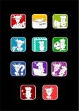 Iconos del sitio del carácter Imagenes de archivo